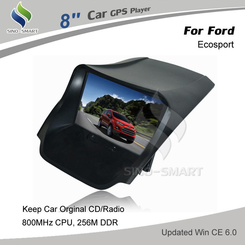 New WIN CE 6.0 800MHz CPU 256M RAM 8 inch Car GPS navigation for Ford Ecosport keep car original CD/Radio, No DVD(Hong Kong)