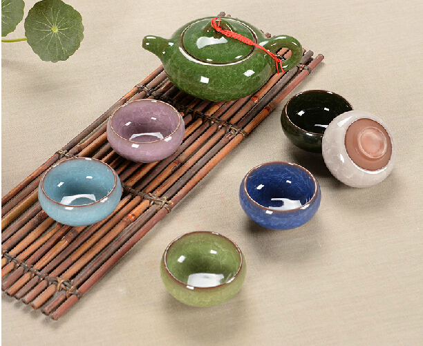Tea set seven sets Six color mixing Kung Fu tea wholesale The highest sales of tea