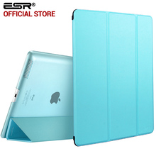 Case for iPad 2 3 4, ESR Yippee Color PU Transparent Back Ultra Slim Light Weight Trifold Smart Cover Case for iPad 2/3/4(China (Mainland))
