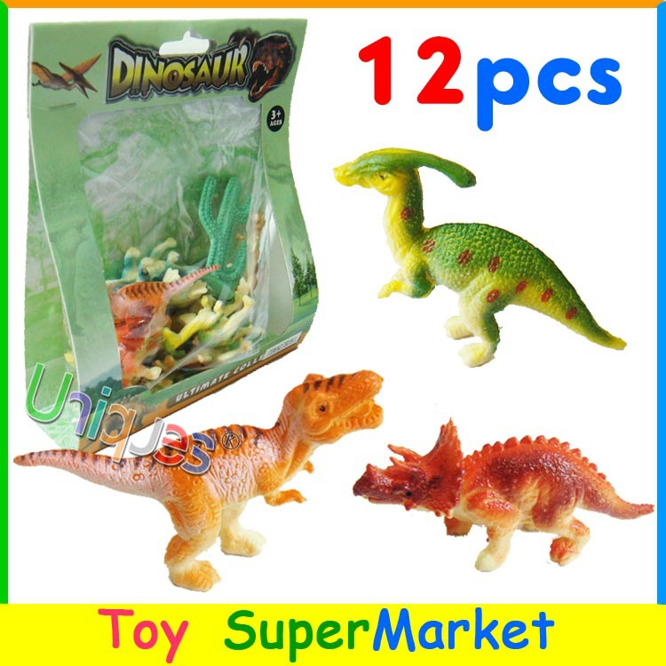 12pcs Toy Dinosaurs Model Plastic Jurassic Park World Play Toys Animal Miniature Dragon Action Figures T-REX Best Gift for Boys(China (Mainland))
