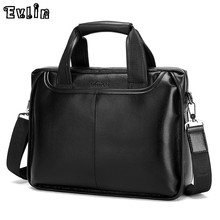 Men Briefcases High Quality Leather Business Bag Black And Brown Man Briefcase Bag For Laptop Evlin-005-1(China (Mainland))