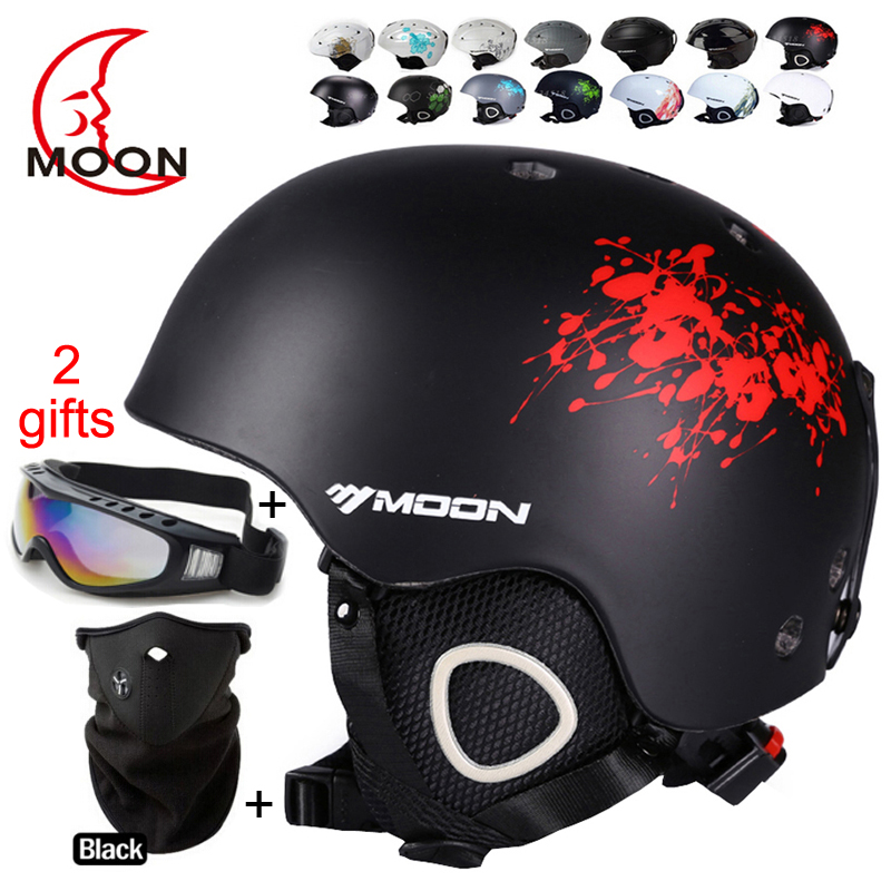 MOON Hot Sale Ski Helmet Integrally-molded Skiing Helmet For Adult and Kids Safety Skateboard/Ski Snowboard Helmet(China (Mainland))