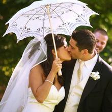 DIU# Elegant Lace Umbrella Cotton Embroidery Ivory Battenburg Lace Parasol Umbrella Wedding Umbrella Decorations Free Shipping(China (Mainland))