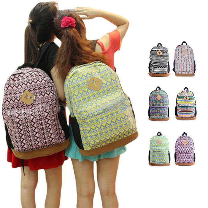Womens Floral Canvas Satchel Backpack Shoulder School Bag Bookbag Rucksack S5Q - Feedback(858 store| Orders (1506))