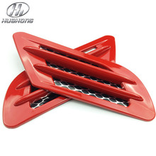 Car body wind net sticker simulation outlet Air Flow Vent Net wind mesh decoration ABS products accessory suitable for all car(China (Mainland))