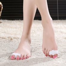 2Pcs Silicone Toe Straighteners Separator Bunion Corrector Protector Pain Relief  6VBT 7GQO