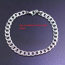 Mannen Armband & Bangle 2019 Kerstcadeau Roestvrij Stalen Armband Zilver Kleur Link Tarwe Dubbele Ketting Sieraden Dropshipping(China)