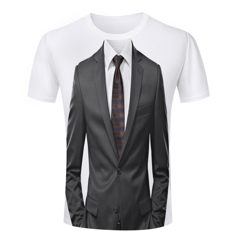 Latest Fashion Style Retro Tie T Shirts Men Funny Tuxedo Shirts Man 3d Printed T-shirts For Male Plus Size Short Sleeve S-4XL(China (Mainland))