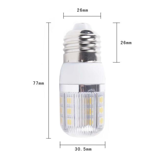 E27 220V 5W warm white 360 Degree 5050 SMD 30 Led Light Bulb Lamp corn bulb wholesale 50pcs EMS free