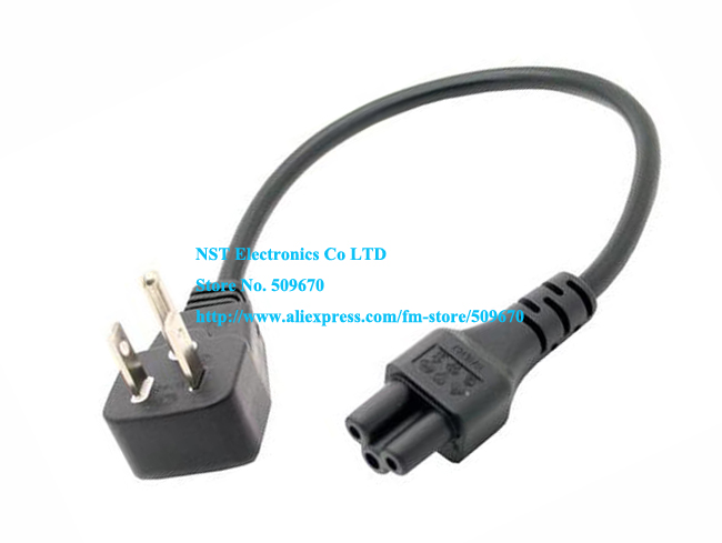 US Short Travel Power Cord For Notebook Digital Camera, Flat 5-15P 3Pin Male to C5 Female Cable About 30CM/Free Shipping/5PCS(China (Mainland))