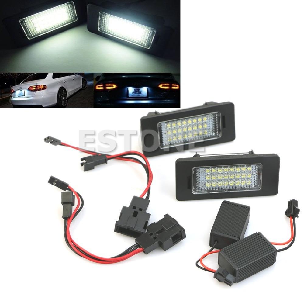 Гаджет  B39 2015 Newest  License Plate Light 24 SMD LED No Error For Audi A4 B8 S4 A5 S5 Q5 S  free shipping None Автомобили и Мотоциклы