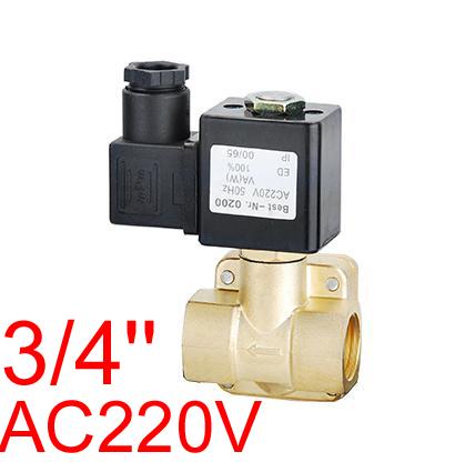 3/4 inch DN20 16 BAR AC220V NC Electric Solenoid Diaphragm Valve MODEL 0927300,AIR,WATER,OIL,DIESEL(China (Mainland))