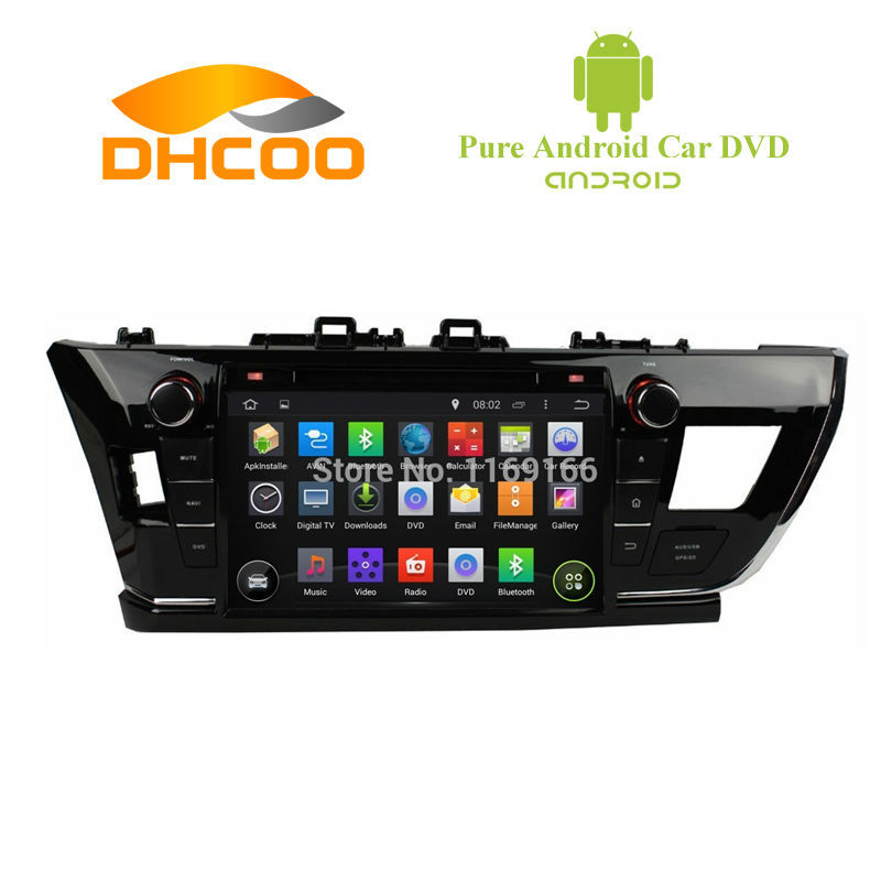 2 din Android 4.4.4 Car DVD Player for TOYOTA COROLLA 2014 car radio With GPS 3G WIFI IPOD Radio RDS Support OBD DVR SWC(China (Mainland))
