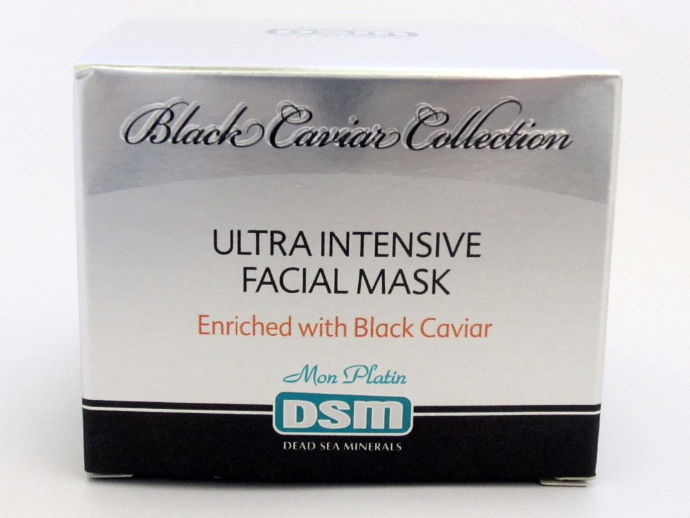 Ultra Intensive Facial Mask Enriched with Black Caviar Dead Sea 50ml/1.7oz Mon Platin DSM For All Skin Types Minerals Facial(China (Mainland))