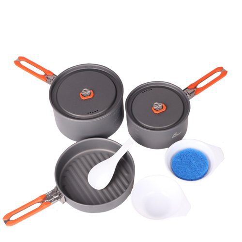 #Fire Maple 2-3 Person Camping Pot Cooking Picnic Cookware Set fire maple titanium cookware outdoor camping 630g feast3(China (Mainland))