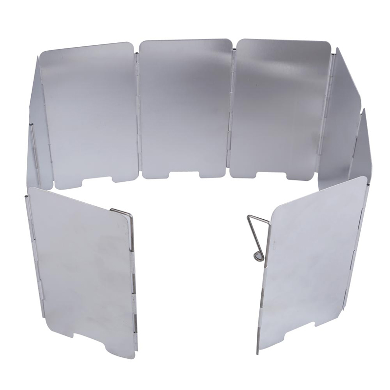 9-plates Alumium Alloy Foldable Camping Stove Wind Shield Screen Cookout Picnic Windbreak Windshield<br><br>Aliexpress