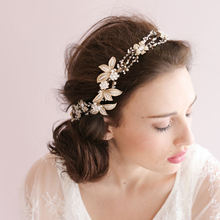 Gold Bridal Hair Accessories For Brides High Quality Handmade Bridal Hats 2016 New Real Photo Wedding Head Wear(China (Mainland))