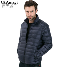 2016 Autumn Winter Duck Down Jacket, Ultra Light Thin plus size winter jacket for men Fashion mens Outerwear coat(China (Mainland))