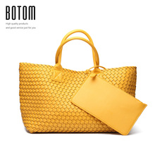 Fashion Luxury premium faux leather WOVEN CABAT Tote Bag High Quality Handbags Candy Color Women Shoulder bags Large Bag Purse(China (Mainland))
