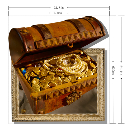2015 New Creative Cartoon Money Box 3D Wall Sticker , Paper Creative Painting Home Decor(China (Mainland))