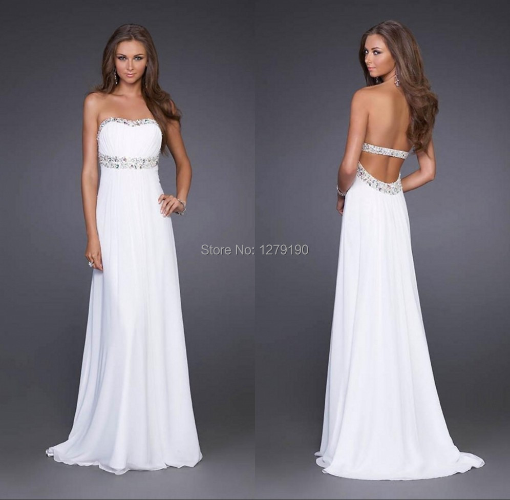 hot sale cheap sweetheart chiffon a line backless beach