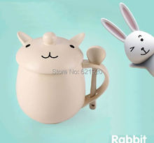 Buy Creative cartoon cup love white bunny mug cute Rabbit Mug Small animal ceramic cup Rabbit Milk mug for $20.00 in AliExpress store