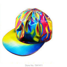 New* Fashion rainbow Marty McFly Licensed Color Changing Hat Cap Back to the Future Prop G-Dragon baseball cap(China (Mainland))