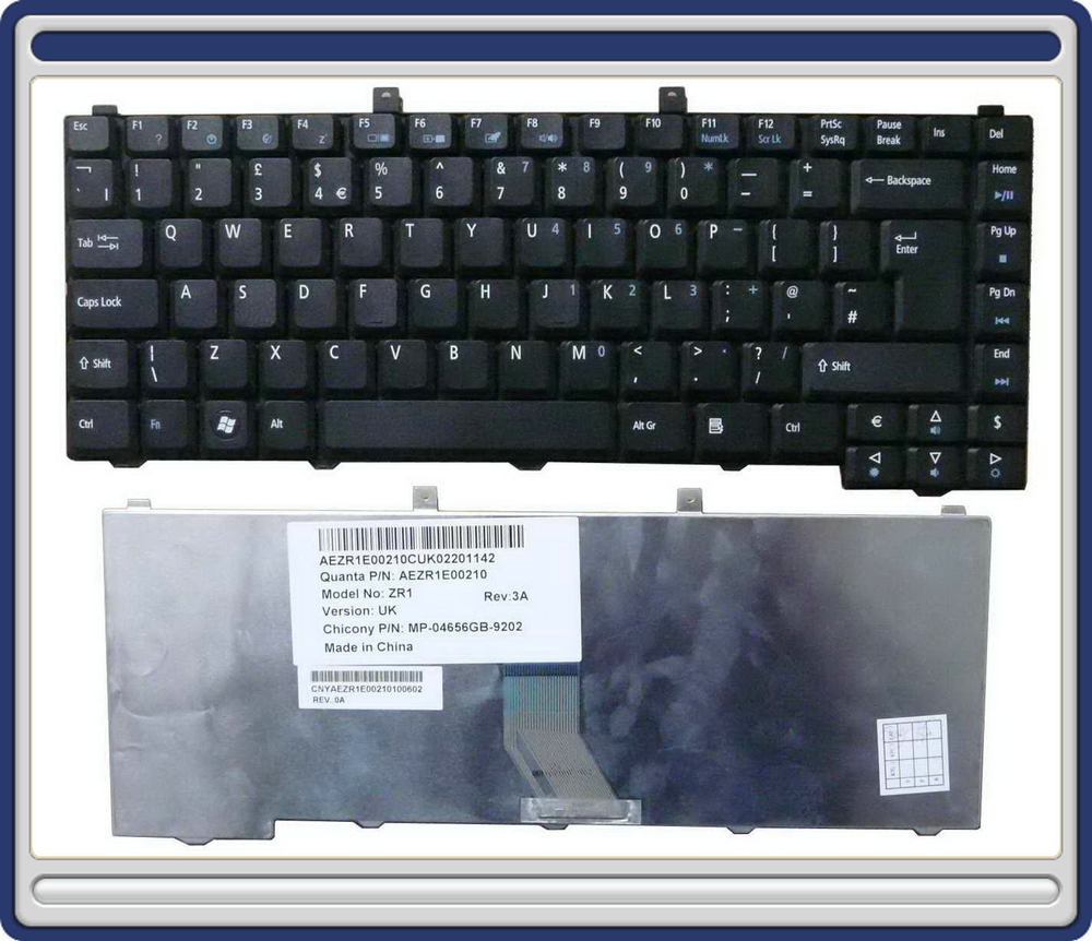 New UK Keyboard for Acer Aspire 5672WLMi 5672 series Laptop Teclado Wholesale Accessories Parts QWERTY (K993-5672-HK)(China (Mainland))