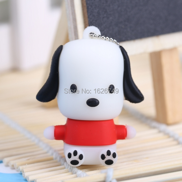 5 colors lovely littlw dog usb flash drive pendrive 8gb 32gb animal pen drive 16gb memory stick cartoon USB 2.0 free shipping(China (Mainland))