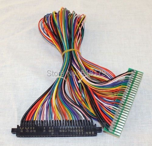 arcade game board 100cm 56 pin Full Jamma Extender harness, JAMMA Cabinet Wire, Wiring Harness Loom Arcade PCB(China (Mainland))