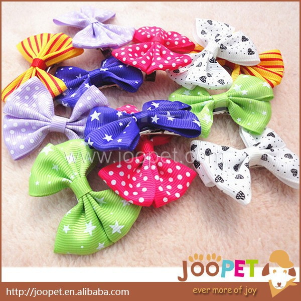 Mix color cheap dog hair clip multicolor butterfly style Hair Bows hair ties for pet dogs clips pet grooming products(China (Mainland))