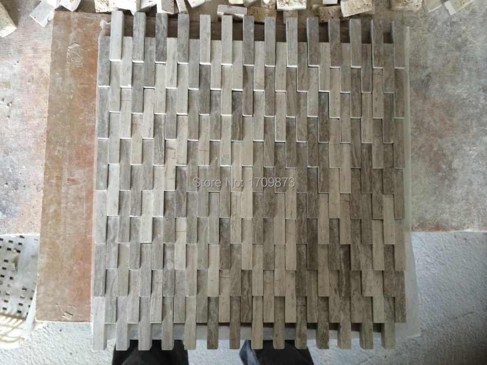 Wood white mosaic tile,Stone Mosaic tile Wood Grey wall tiles with floor tiles(China (Mainland))