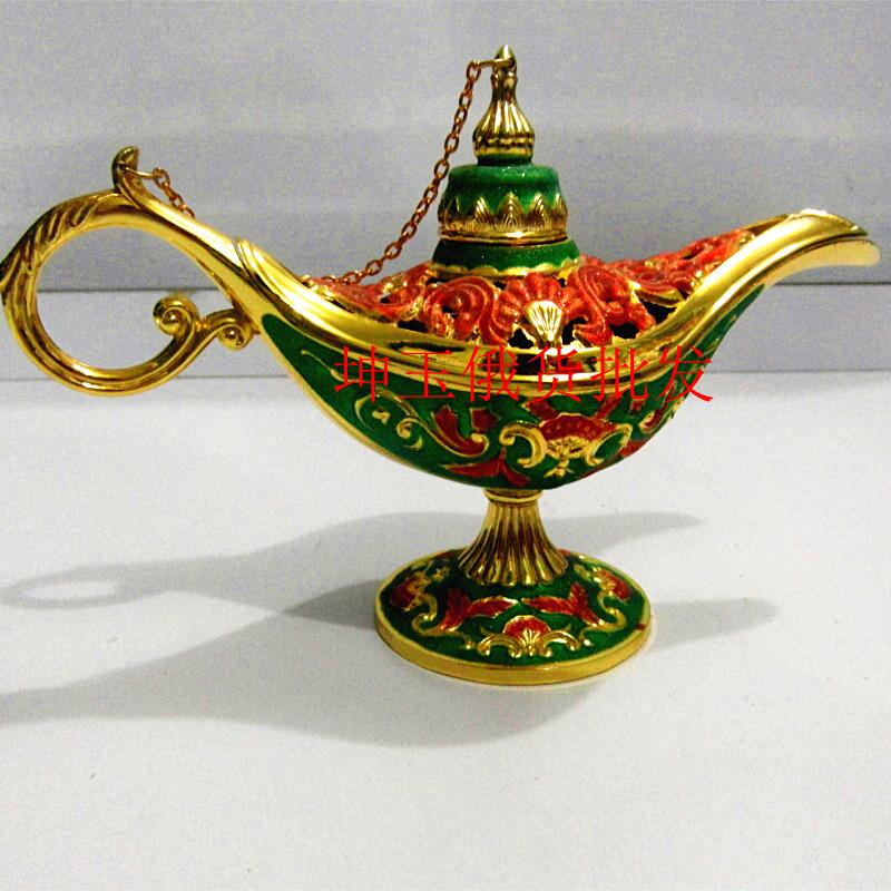 Magic Genie Light OiL Lamp Pot Arab Big Choi tin hollow TDP 2PCS Russian tea Pot Al-addin Pakistan lamp Decoration Bronze Silver(China (Mainland))