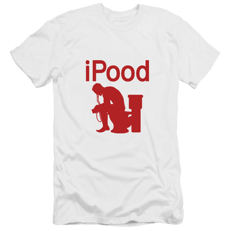 Funny Rude Letter T-Shirts Summer Casual Size Plus iPood T Shirt 2016 Brand Famous Cool Streetwear Tshirts O-Neck T-F11742(China (Mainland))