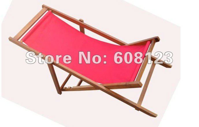 Outdoor wood furniture foldable lounge chairs wooden beach deck chair fishing