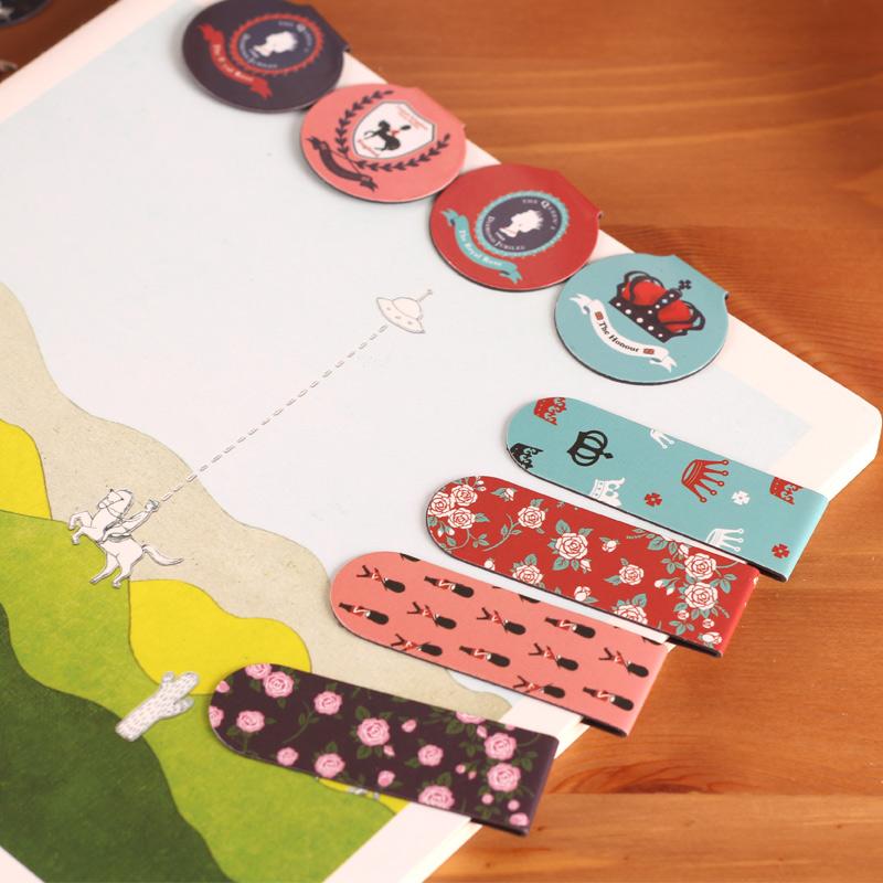 Cute log book Royal British creative stationery magnetic bookmark clips 3(China (Mainland))