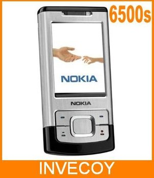 6500S Original NOKIA 6500 unlocked cell phone With 3.15MP Camera Bluetooth 3G slider with freeship
