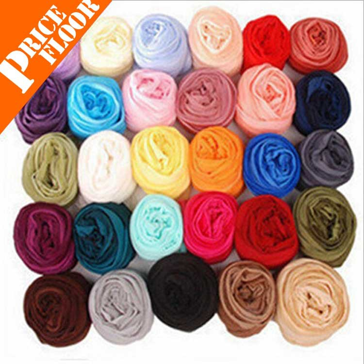 free shipping cheap scarves hottest fancy female chiffon scarf cotton voile warm soft silk scarf shawl cape colors no from india(China (Mainland))