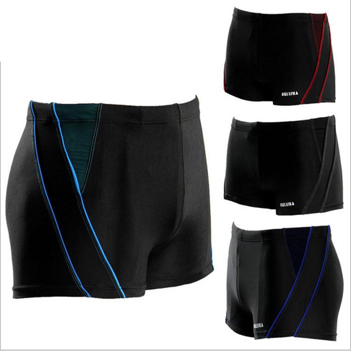 Free shipping men swimwear men swim trunks XL - XXXL 3 color spandex nylon swim shorts swim sunga sexy beach wear swimsuit men(China (Mainland))