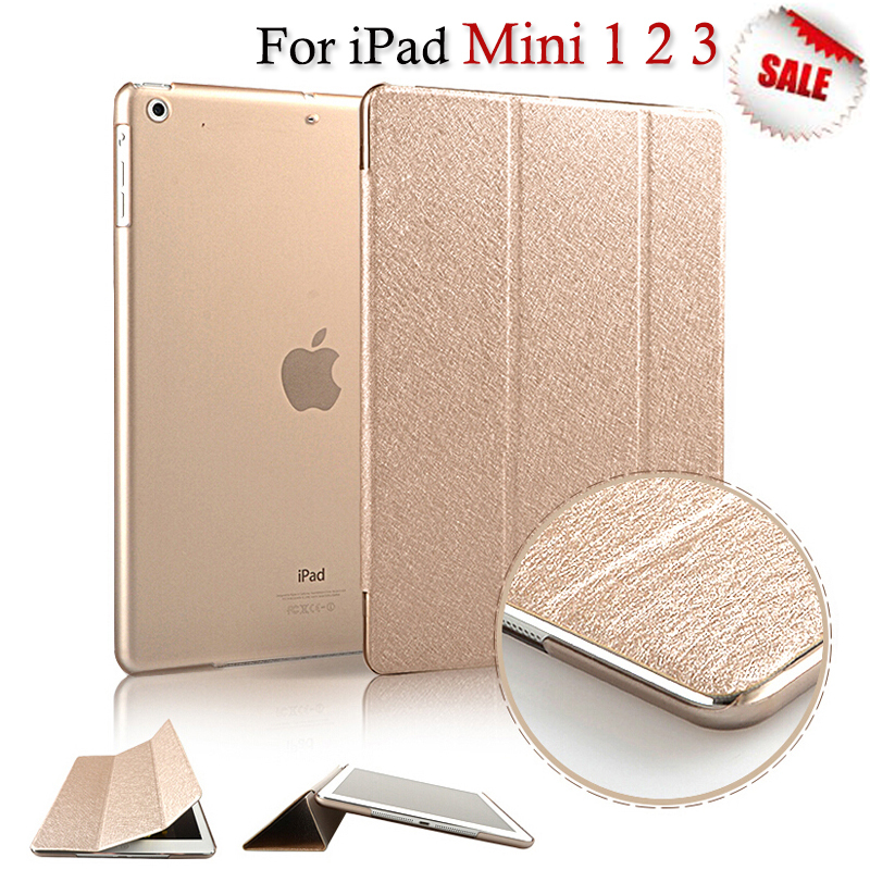 Luxury PU Leather Ultra Slim Flip Stand Smart Magnetic Case Cover For Apple iPad Mini 1 2 3 Retina Display WakeUp/Sleep Function(China (Mainland))