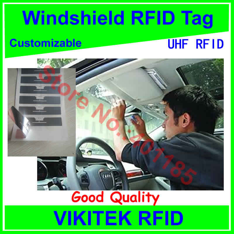 car windshield UHF RFID tag customizable adhesive 860-960MHZ Higgs3 EPC C1G2 ISO18000-6C can be used to RFID tag and labe<br><br>Aliexpress