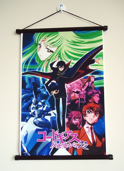 Anime Picture Code Geass scroll paintings fabric painting 36*53cm A0619(China (Mainland))