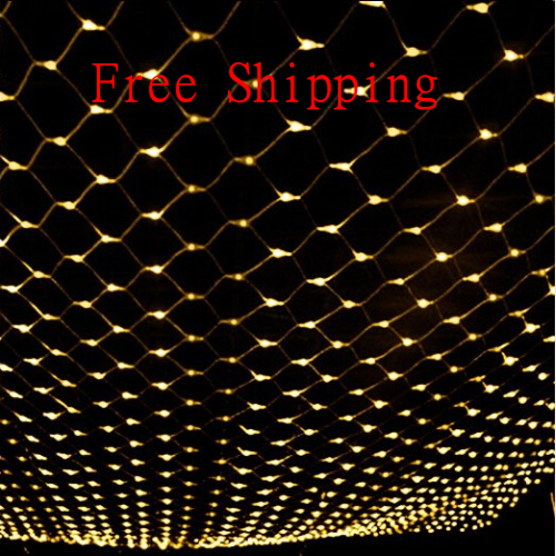 Waterproof 2m 3m 204led christmas led net lights fairy for 160 net christmas decoration lights clear