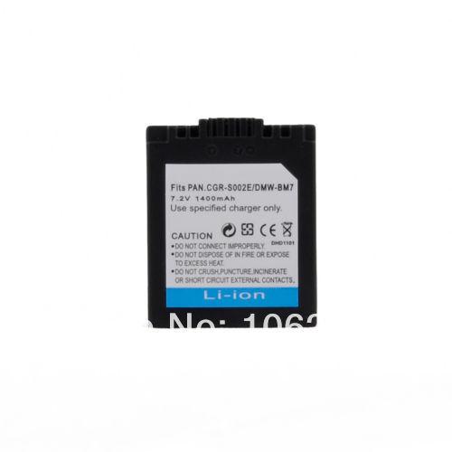 Гаджет  1400mAh CGA-S002 DMW-BM7 Battery for Panasonic FZ4 FZ15 FZ20 FZ10 FZ5 FZ1 FZ3 FZ2 None Электротехническое оборудование и материалы