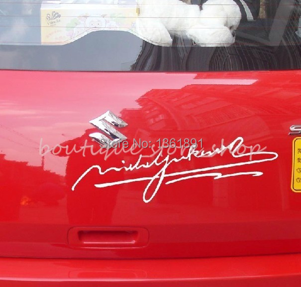 Michael Jackson signature Eyelid front windshield rear bumper car stickers Wall Decals(China (Mainland))