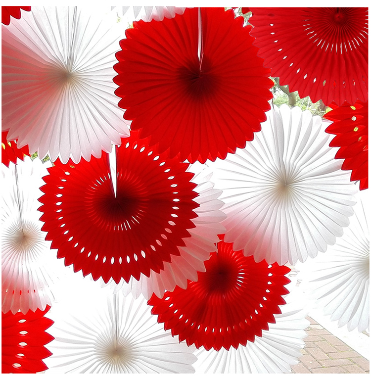 12 Inch 5pcs /Lot Paper Fans For Party Decorations Paper Crafts Halloween Birthday Party Decorations Kids Baby Shower(China (Mainland))