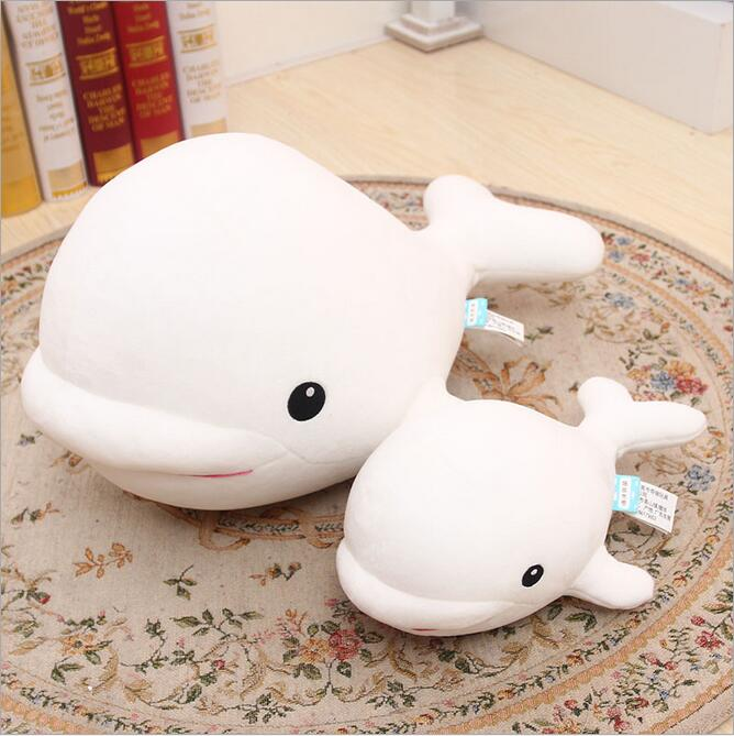 Free shipping Ocean Alliance series Beluga plush toy doll Dolphin foam particles(China (Mainland))