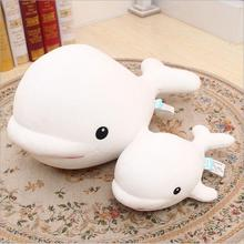 Free shipping Ocean Alliance series Beluga plush toy doll Dolphin foam particles