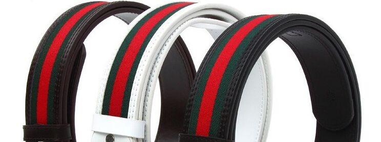 Мода бренда конструкции gg пряжки красным зеленый холст ремень натуральная воловья кожа мужчин пояс случайные ремень