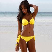 2016 Sexy Women Push-up Bra Bandage Bikini Swimsuit Swimwear Bathing Suit Beachwear Women's Swimming Suit Bikinis Tankini